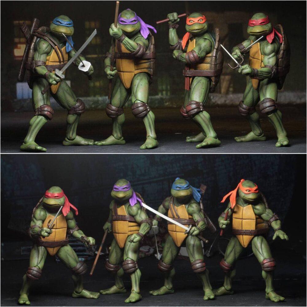 پک ۴ عددی اکشن فيگور های لاکپشت های نینجا ( SDCC 2019 TMNT ) (3)