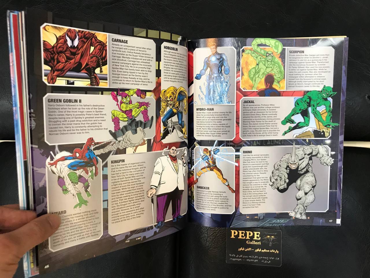 کتاب راهنمای سوپر هیرو های مارول ( همه چیز درباره ی اسپایدرمن – آیرونمن – وولورین ) (8)