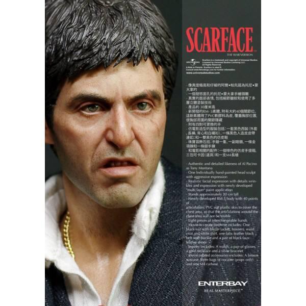اکشن فیگور فوق العاده از تونی مونتانا ( ال پاچینو صورت زخمی وار ورژن ) (6)