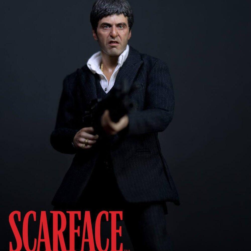 اکشن فیگور فوق العاده از تونی مونتانا ( ال پاچینو صورت زخمی وار ورژن ) (8)
