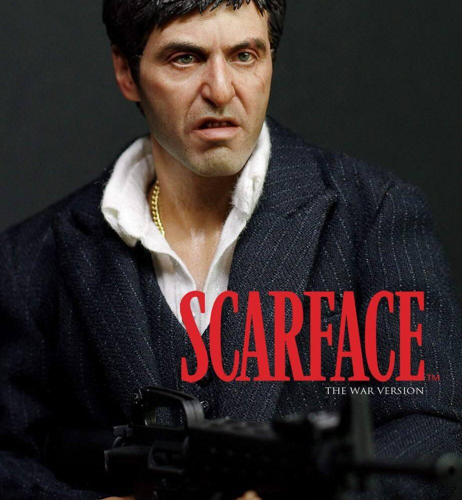 اکشن فیگور فوق العاده از تونی مونتانا ( ال پاچینو صورت زخمی وار ورژن ) (9)