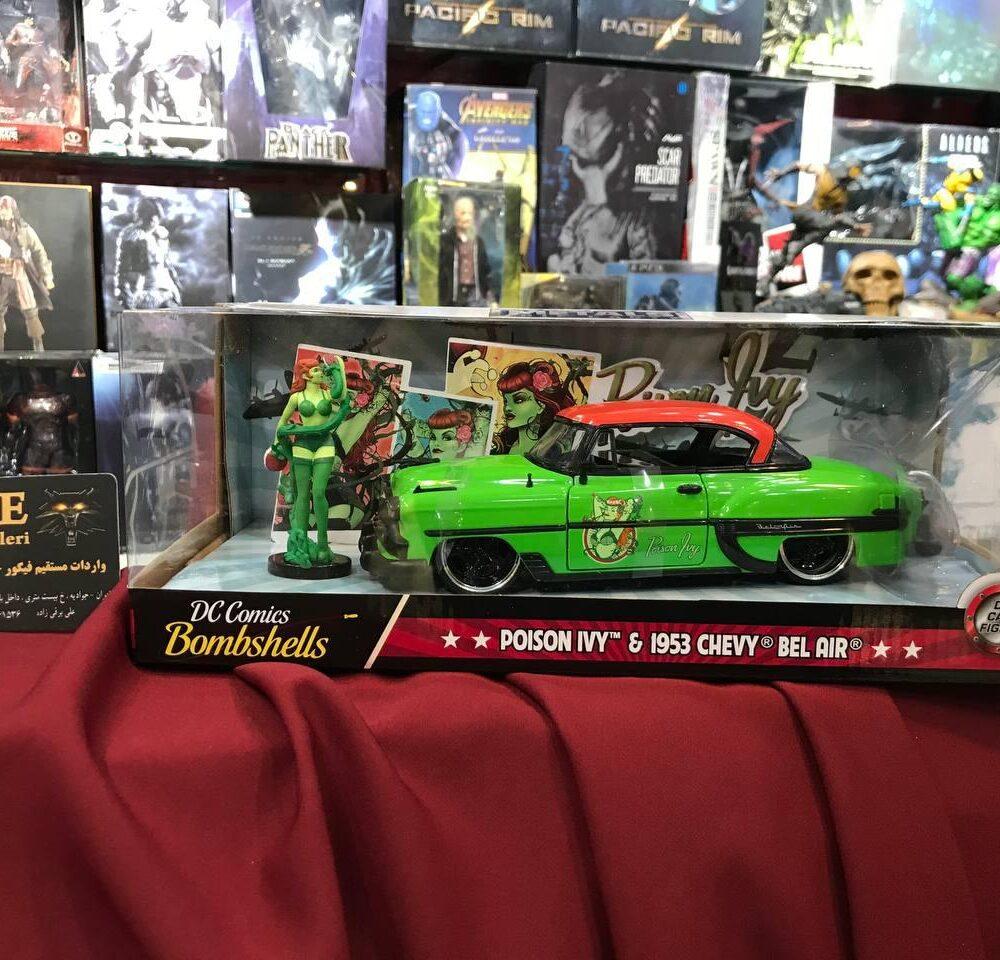 ماکت فلزی جادا مدل پویزن آیوی و ماشین شورولت سبز (5)