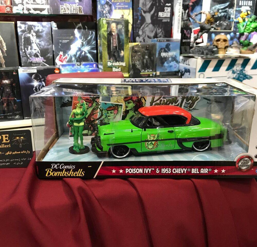 ماکت فلزی جادا مدل پویزن آیوی و ماشین شورولت سبز (6)