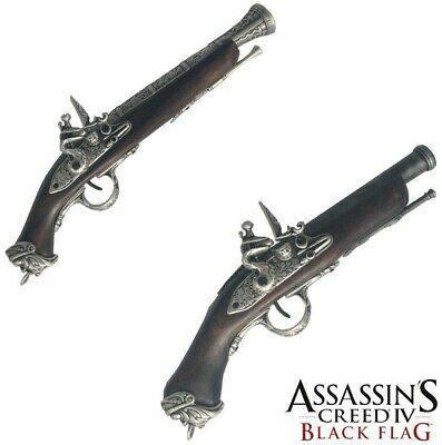 Medioevo Assassin'S Creed Iv 4 Black Flag Edward Kenway'S Pistol Gun With Decorated Barrel Collectibles Replica (2)
