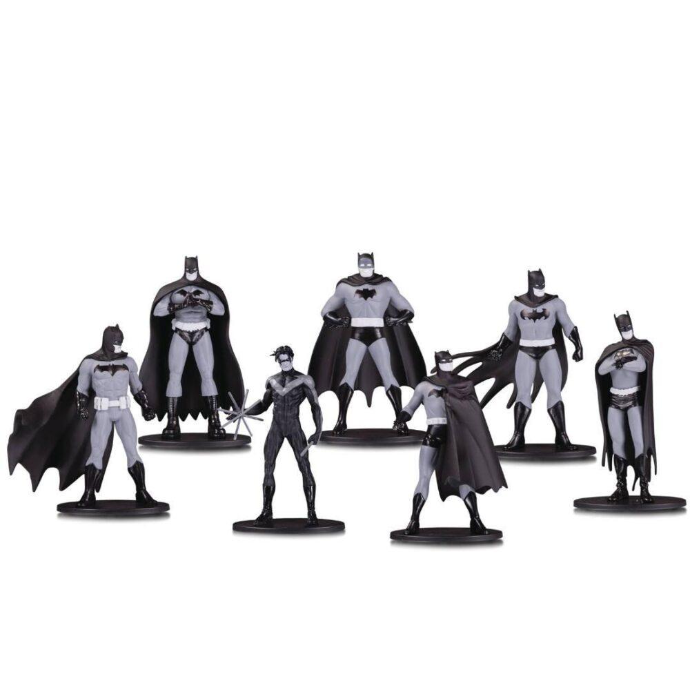 ست ۷ عددی مینی فیگور های سیاه و سفید بتمن (دی سی کالکتیبلز) (4)